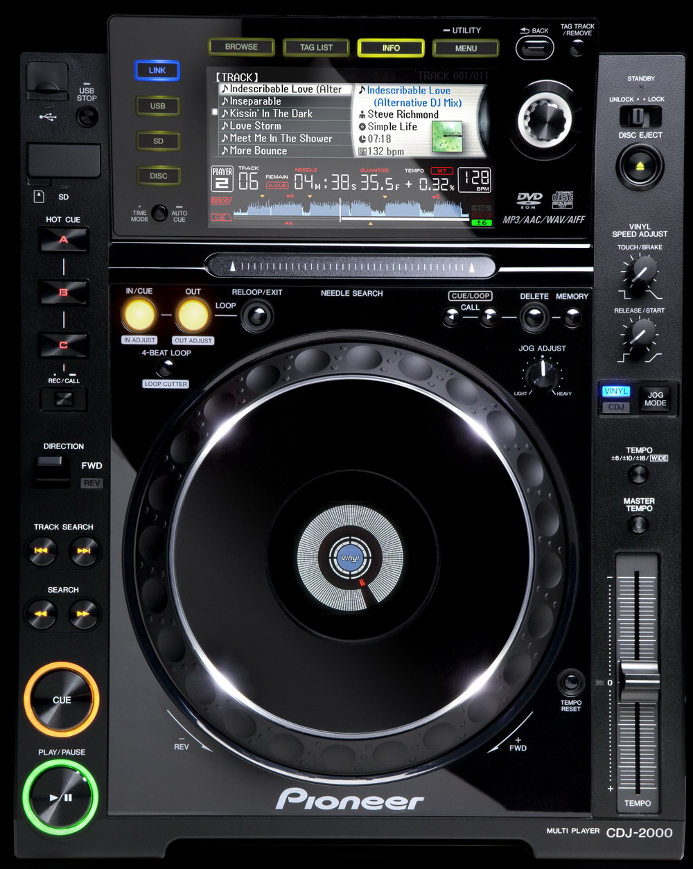 Pioneer CDJ-2000 - Equipamento para DJs
