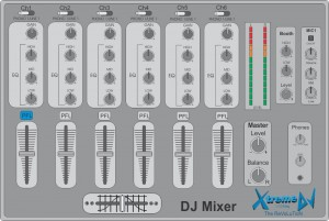 Principais recursos e funções Mixers profissionais para DJs - Modelo 03