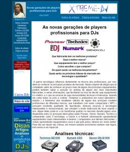 2a versão do site Xtreme DJ - 2001 a 2006 - 1o site para DJs do Brasil