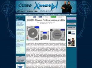 3a versão do site Xtreme DJ – 2007 - 1o site para DJs do Brasil