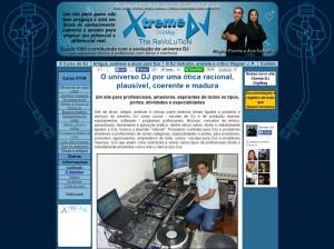 4a versão do site Xtreme DJ – 2011 - 1o site para DJs do Brasil