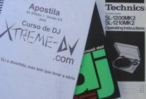 Apostilas, livros e manuais para DJs, sobre equipamentos e etc.