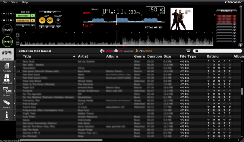 Software Rekordbox para DJs
