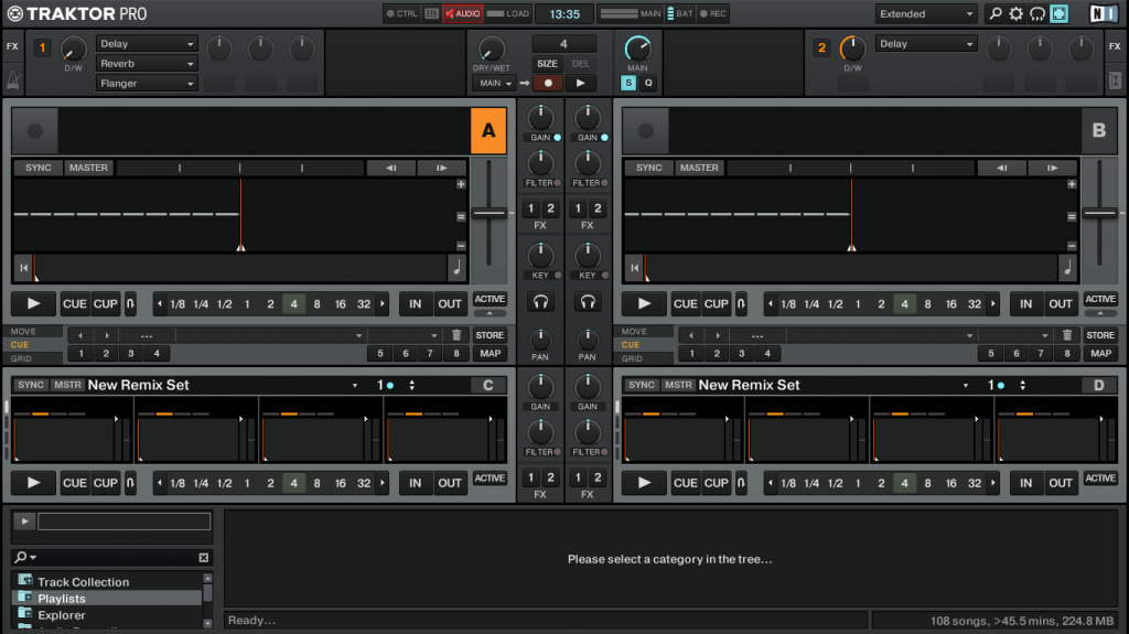 Traktor 2.6 layout extended