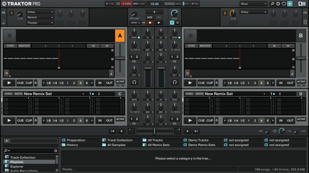 Traktor 2.6 layout mixer