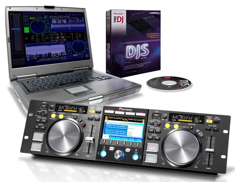 Híbrido CD / MP3 Players / controlador Pioneer MEP-7000 profissional para DJs