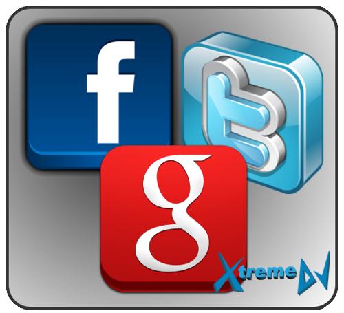 Redes sociais (Google+ / Facebook / Twitter)