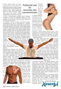 Página revista fictícia - Formas para entrar, se tornar renomado / famoso e se manter em um mercado