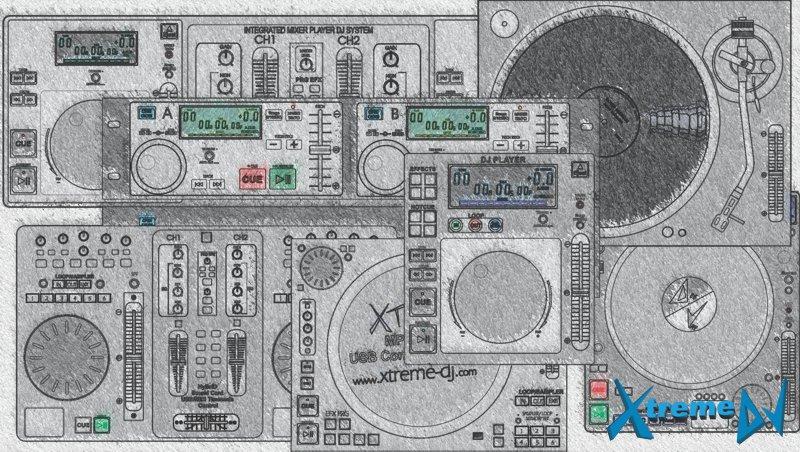 Diferentes modelos de CD/MP3 Players - Equipamentos profissionais para DJs