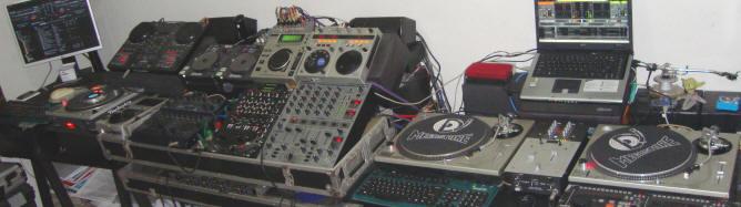 Equipamentos do Laboratório / estúdio do cursos DJs