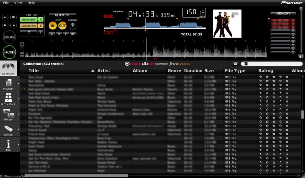 Software Rekordbox para DJs