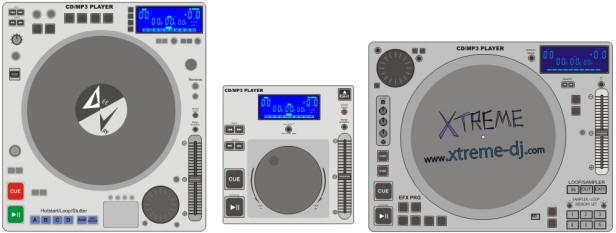CDs/MP3s players profissionais para DJs