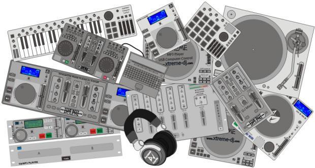 Os equipamentos para DJs