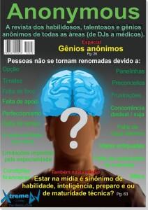 Revista fictícia, ilustrativa sobre habilidosos, talentosos e gênios anônimos.